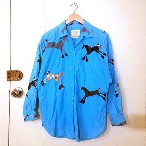 Vtg Where It At Santa Fe Button-Up Shirt